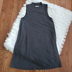 Madewell Sandwashed Mock Neck Dress